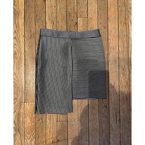 Striped Asymmetrical Skirt